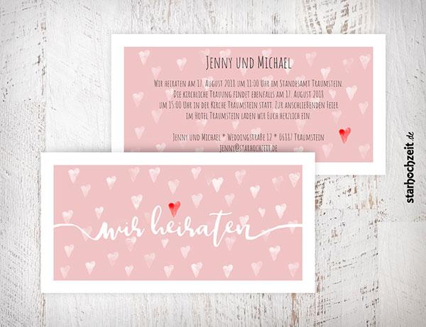 Starhochzeit De Hochzeitseinladungskarte Einfach Selber Gestalten