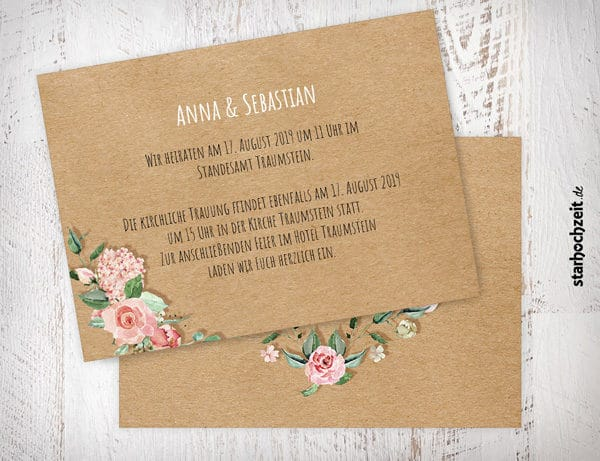 Einladung Zur Hochzeit Hochzeitseinladung Anne Sebastian