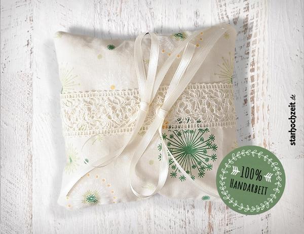 Ringkissen, Hochzeitsringkissen, Handgemacht, Handarbeit aus Grimma