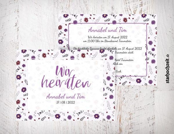 Einladungskarten Hochzeit Und Dankeskarten Fur Deine Hochzeit Selber