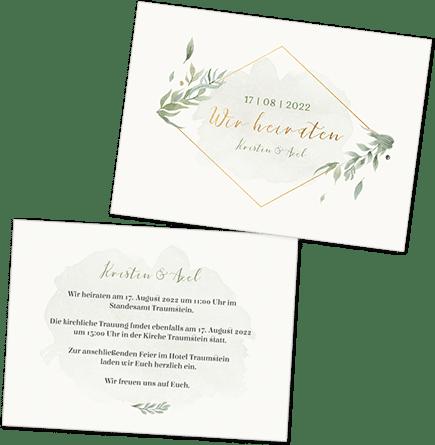 Einladungskarten Und Dankeskarten Fur Deine Hochzeit Selber Gestalten