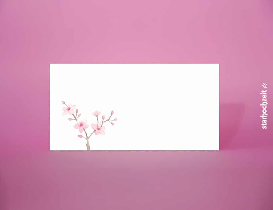 Der passende Briefumschlag für die Hochzeitskarten der Serie Mia. DIN lang Briefumschlag beidseitig bedruckt mit floralem liebevollem Design.
