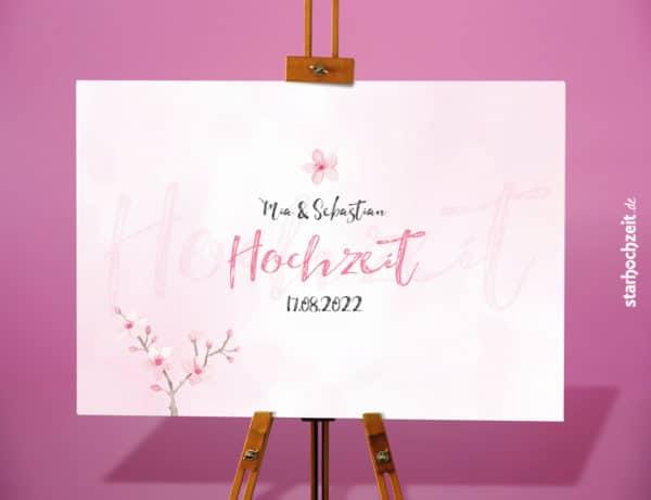Leinwand - Serie - Mia - Gästebild mit Euren Namen und Hochzeitstag