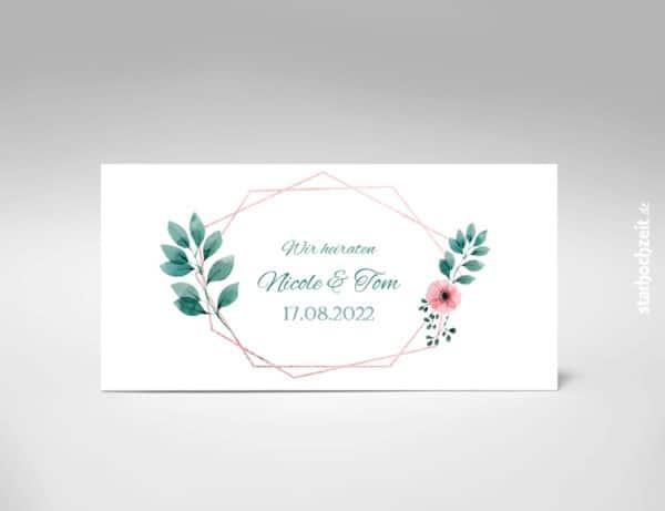 Einladungskarte Hochzeit, Hochzeitseinladung, Blush, Kupfer,
