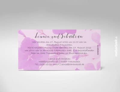 Hochzeiteinladung, Hochzeitseinladungskarte | rose monochrom | neu 2019 | Blumen | starhochzeit