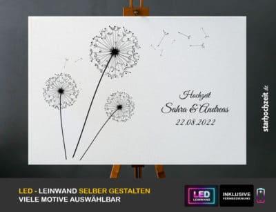 Hochzeit Gästebuch Alternative Motiv Löwenzahn vorn