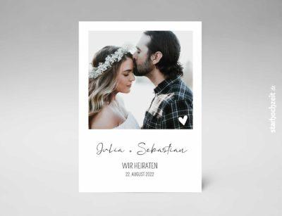 Hochzeitseinladung, Einladung zur Hochzeit, Hochzeitskarte, stillvoll, schlicht, modern