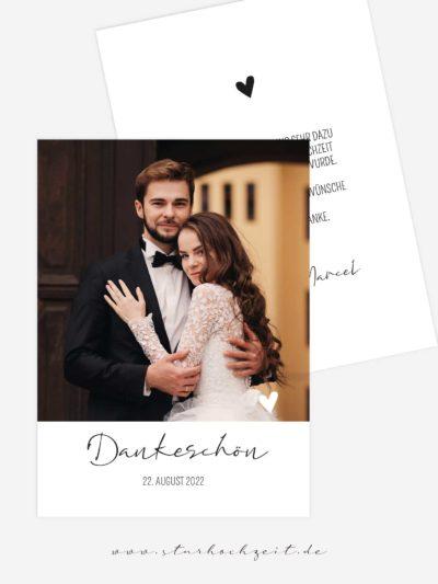 Dankeskarte Hochzeit - Liebling